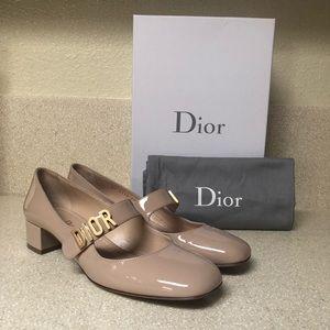 Christian Dior Patent Ballet Pump Nude Sz 39.5